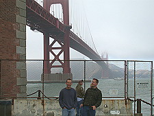 Dan and Drew at Fort Point, July 2002